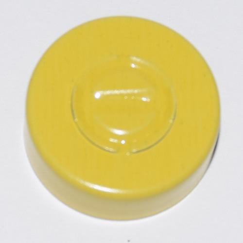 20mm Yellow Aluminum Center Tear Seals - 100 Pack