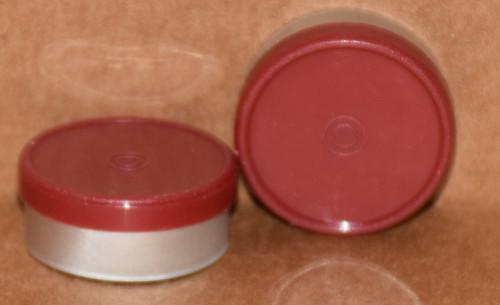 20mm Brick Red Aluminum Plain Flip Off Seals - 25 Pack