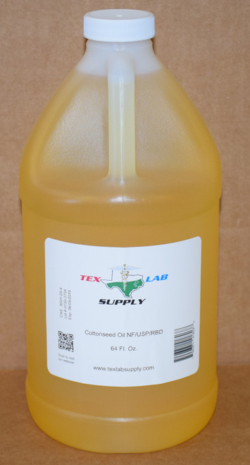 Cottonseed Oil NF⁄USP⁄RBD 1/2 Gallon (64 Fl. Oz.)