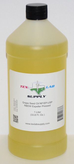 Grape Seed Oil NF/USP/RBDW/EP 1Liter (32 Fl. Oz.)