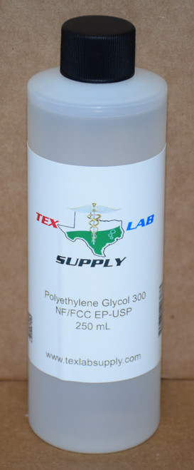Polyethylene Glycol 300 (PEG 300)NF/FCC/EP/USP/Kosher 250 mL (8 Fl. Oz.)