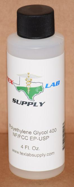 Polyethylene Glycol 400 (PEG 400) NF/FCC/EP/USP/Kosher 4 Fl. Oz. (120 mL)