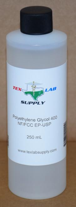 Polyethylene Glycol 400 (PEG 400) NF/FCC/EP/USP/Kosher 250 mL (8 Fl. Oz.)