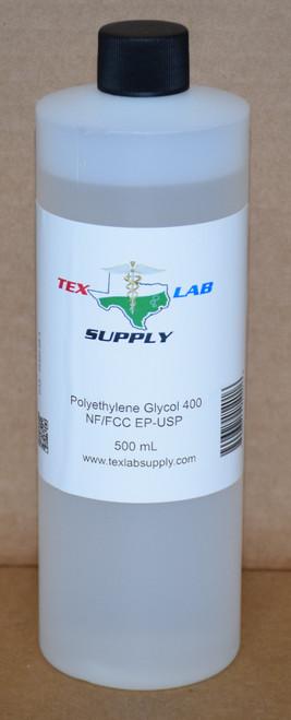 Polyethylene Glycol 400 (PEG 400) NF/FCC/EP/USP/Kosher 500 mL (16 Fl. Oz.)