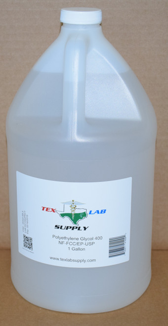 Polyethylene Glycol 400 (PEG 400) NF/FCC/EP/USP/Kosher 1 Gallon (128 Fl. Oz.) (4 Liters)