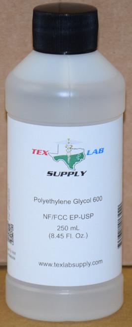 Polyethylene Glycol 600 (PEG 600) NF/FCC/EP/USP/Kosher 250 mL (8 Fl. Oz.)