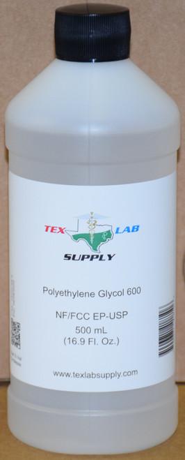 Polyethylene Glycol 600 (PEG 600) NF/FCC/EP/USP/Kosher 500 mL (16 Fl. Oz.)