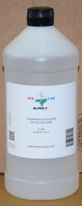 Polyethylene Glycol 600 (PEG 600) NF/FCC/EP/USP/Kosher 1 Liter (32 Fl. Oz.)