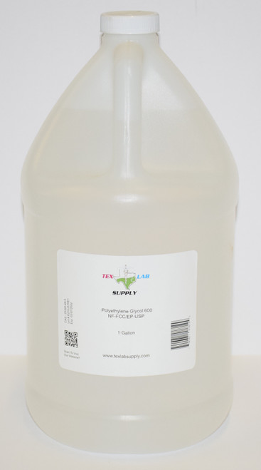 Polyethylene Glycol 600 (PEG 600) NF/FCC/EP/USP/Kosher 1 Gallon (128 Fl. Oz.) (4 Liters)