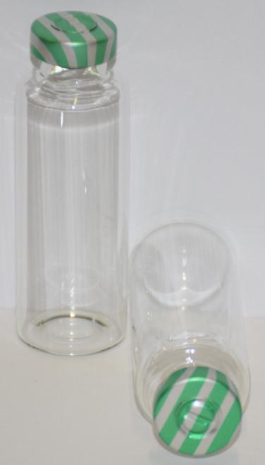 30 mL Clear Sterile Vial w/ Green Stripe Aluminum Center Tear Seal 31mm X 67mm