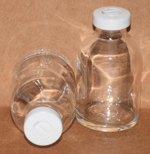 30 mL Clear Sterile Vial w/ White Aluminum Center Tear Seal 36mm X 63mm