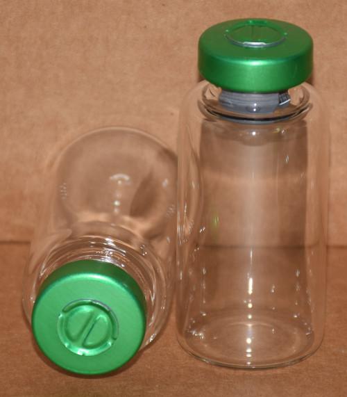 20 mL Clear Sterile Vial w/ Green Aluminum Center Tear Seal 28mm X 58mm