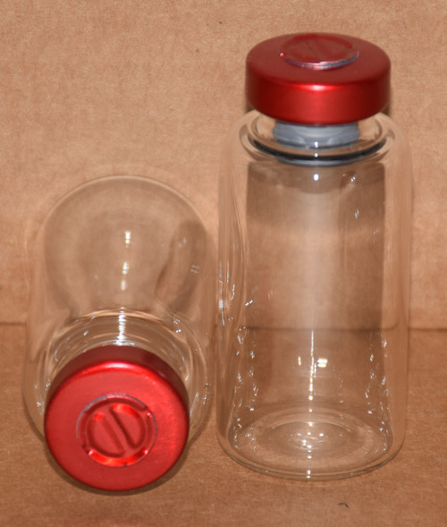20 mL Clear Sterile Vial w/ Red Aluminum Center Tear Seal 28mm X 58mm