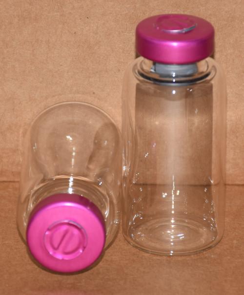 20 mL Clear Sterile Vial w/ Wine Aluminum Center Tear Seal 28mm X 58mm