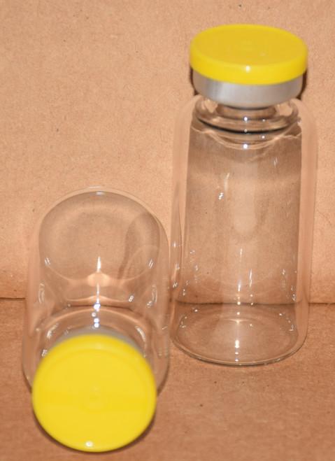 20 mL Clear Sterile Vial w/ Yellow Aluminum Plain Flip Off Seal 28mm X 58mm