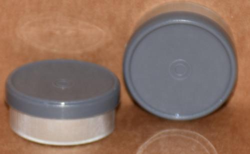 20mm Dark Gray Aluminum Plain Flip Off Seals - 100 Pack