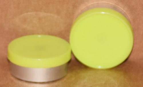 20mm Lemon Lime Aluminum Plain Flip Off Seals - 100 Pack (Discontinued)