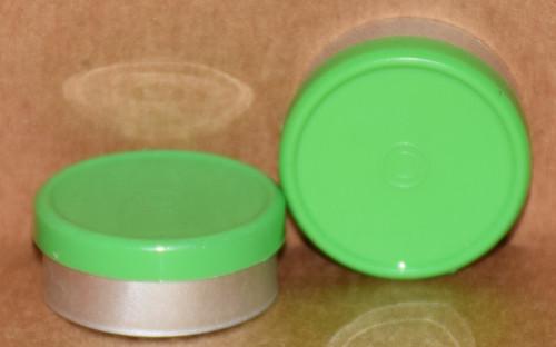 20mm Meadow Green Aluminum Plain Flip Off Seals - 100 Pack