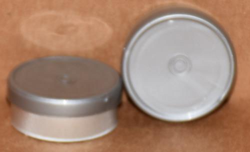 20mm Metallic Silver Aluminum Plain Flip Off Seals - 100 Pack