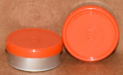 20mm Orange Aluminum Plain Flip Off Seals - 100 Pack