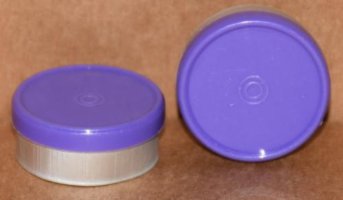20mm Purple Aluminum Plain Flip Off Seals - 100 Pack