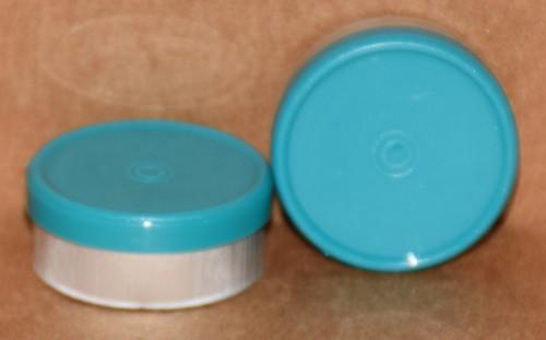 20mm Turquoise Aluminum Plain Flip Off Seals - 100 Pack