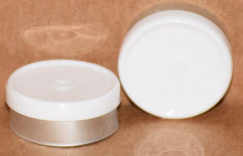 20mm White Aluminum Plain Flip Off Seals - 100 Pack