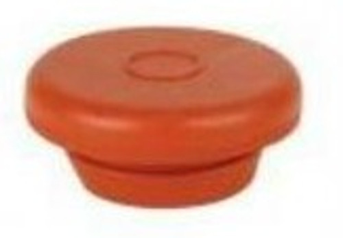 20mm Red Vial Stopper, Round Pack of 100