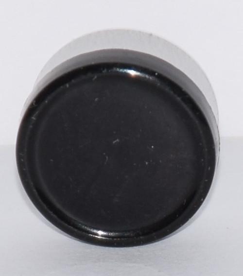 13mm Black Aluminum Plain Flip Off Seals - 25 Pack