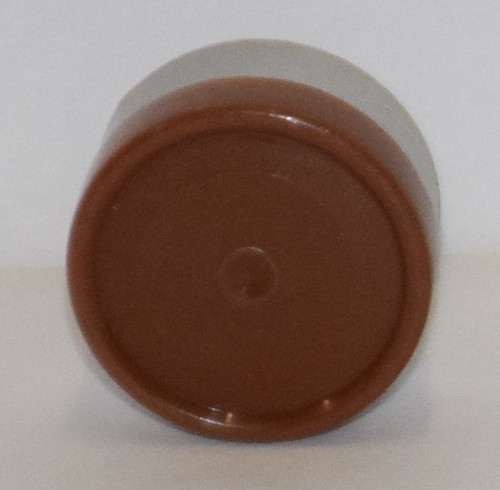 13mm Caramel Brown Aluminum Plain Flip Off Seals - 100 Pack