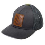 EC12BMOS-  gray with blackhawk logo leather patch
