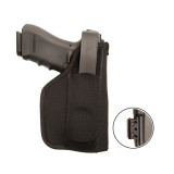 Nylon Laser Holster with holstered gun and laser attachment