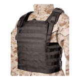 37CL82BK S.T.R.I.K.E.® Lightweight Commando Recon Chest Harness - BLACK FRONT ANGLE