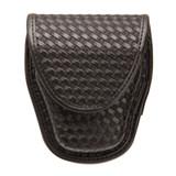 44A100BW - Handcuff pouch - single - black - basketweave