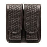 44A001BW - Double Mag Pouch (Double Row) - Plain Basketweave