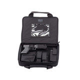 66SS00BK - Discreet SOCOM Pistol Case - includes a universal holster and barrel pouch, sound suppressor pouch, adjustable double mag pouch and UTL light pouch.