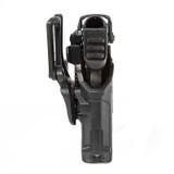 44N600 - T-Series L3D Light Bearing Holster - Basketweave - bottom profile image with Glock 17