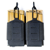 37FS44BK - Foundation Series 7.62 Double Mag Pouch - Front