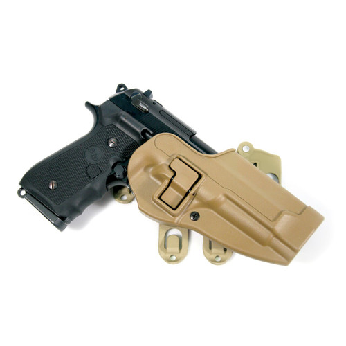 coyote tan strike platform with serpa holster - beretta only