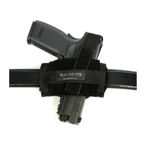 40FB02BK Nylon Ambidextrous Flat Belt Holster black