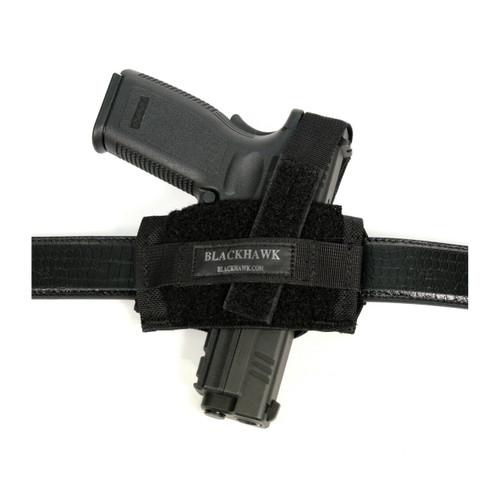 40FB02BK Nylon Ambidextrous Flat Belt Holster black