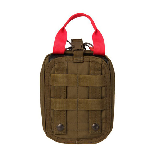 37CL116OD S.T.R.I.K.E.® Quick Release Medical Pouch - MOLLE - OLIVE DRAB FRONT ANGLE