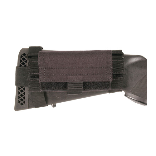 52BS02BK - Buttstock Shotgun Shell Pouch - black