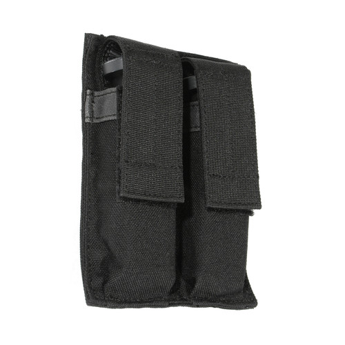 61ACDMBK - Hook Backed Double Pistol Mag Pouch - black