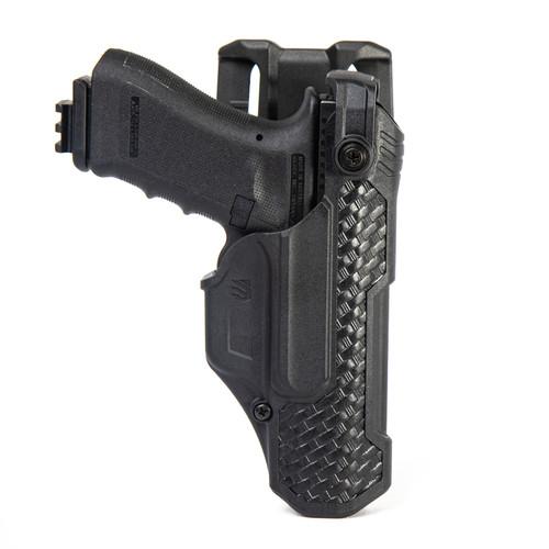 44N500BWR - T-Series L3D Non-Light Bearing Holster - Basketweave - glock main hero image