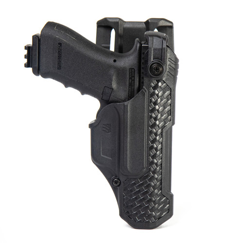 44N500BWR - T-Series L3D Non-Light Bearing Holster - Basketweave - glock main hero image