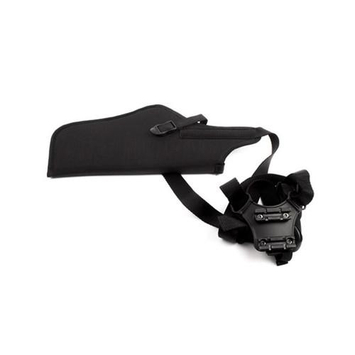40SV03BK-R - Nylon Vertical Shoulder Holster w/Scope - BLACK