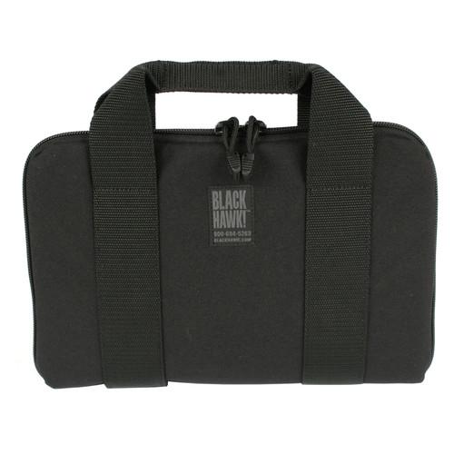 61GR01BK - gun rug pistol pouch - black front closed