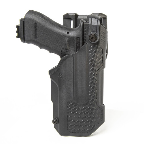 44N600 - T-Series L3D Light Bearing Holster - Basketweave - main image with Glock 17