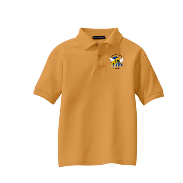 Pique Polo with Logo -Youth (Helping 4 Angels Academy)